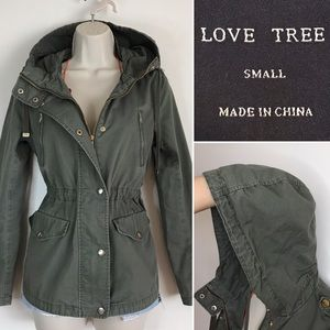 CLASSIC Army Green Hooded Jacket